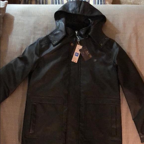 1f9a4e90d BV Clothing Italian Leather Jacket NWT